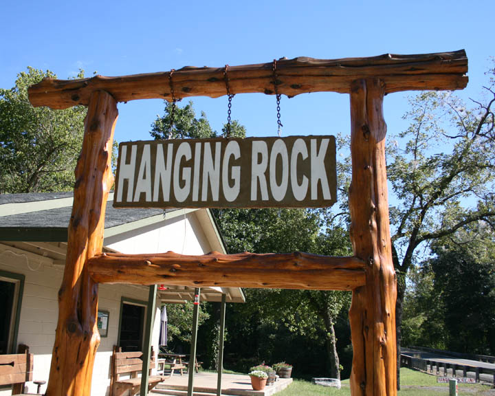 Hanging Rock Sign