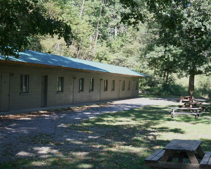 We have primitive camp sites, sites with water and electric, RV stations, and hotel rooms.